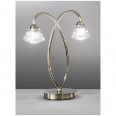 Twista Bronze 2 Light Table Lamp