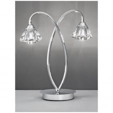 Twista Chrome 2 Light Table Lamp