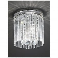 Charisma Crystal Droplet Flush Mount Light 250mm