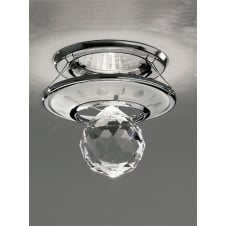 Chrome and Crystal Ceiling Downlight