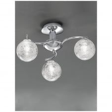 Chrome Bathroom Ceiling 3 Light