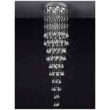 Constellation Chrome and Crystal 7 Light Flush Ceiling Fitting