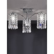 Crystal and Chrome Bathroom 3 Light