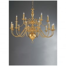 Delft Polished Brass 18 Light Ceiling Fitting