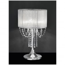 Empress 3 Light Table Lamp with Chrome and Crystal Finish