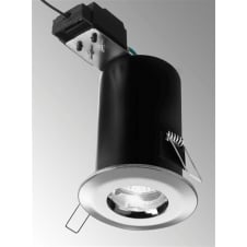 LV 35W Chrome Outdoor Fire Rated Downlight IP65