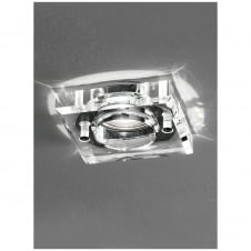 Square Chrome with Crystal Bathroom Downlight