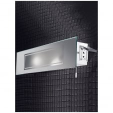 Stainless Steel Bathroom Wall Light IP44 with Mirror Panel