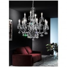 Taffeta Crystal Ceiling Light Chandelier