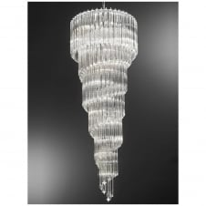 Valentina Chrome and Crystal 13 Light Ceiling Pendant