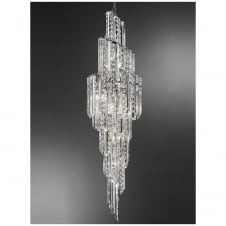 Valentina Chrome and Crystal Pendant Light