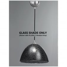 Vetross Range 300mm White Glass Shade, Black Crackle