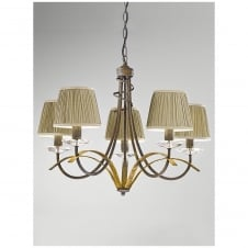 Fusion Antique Gold 5 Light Ceiling Fitting