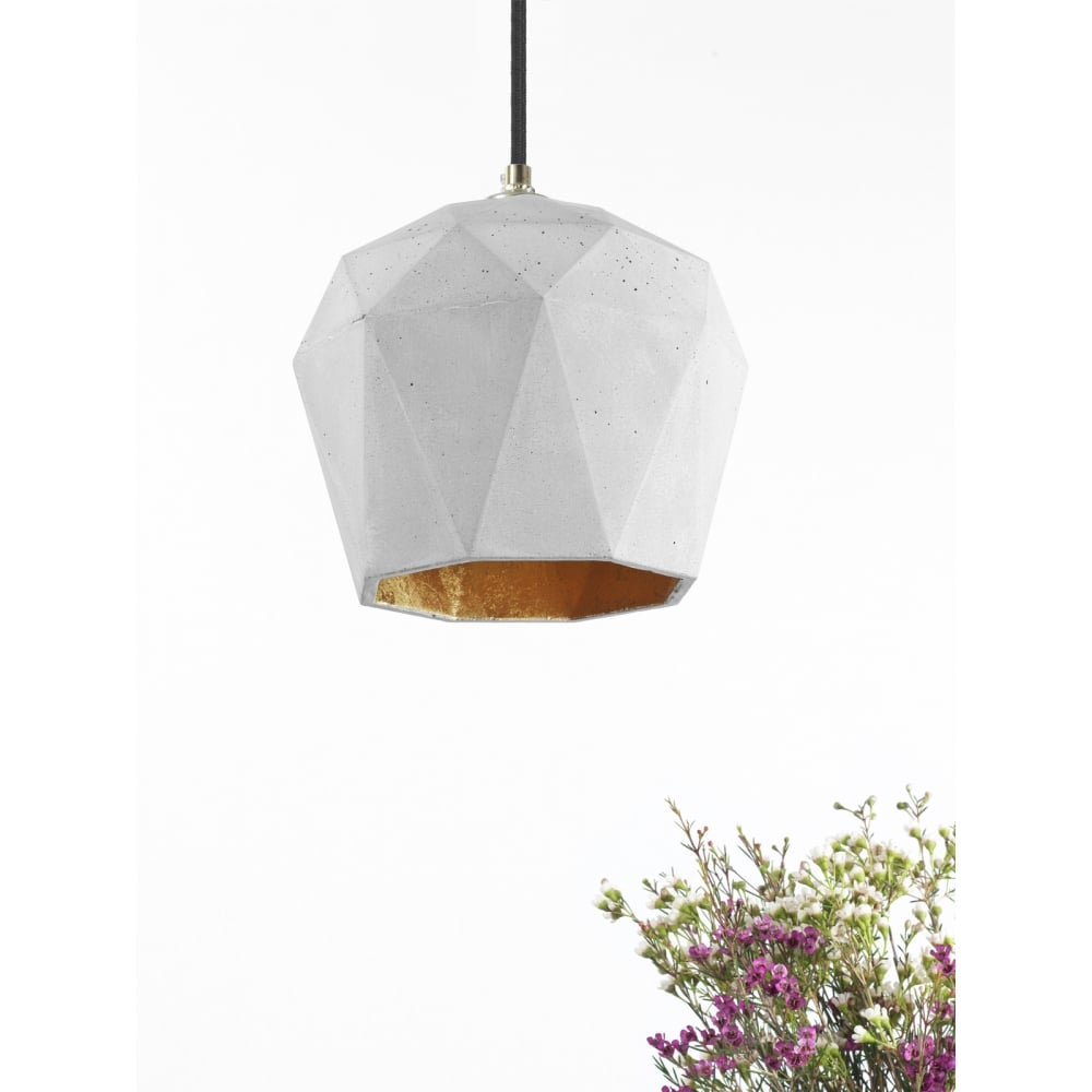 Dome Ceiling Lights: GANT Concrete Dome Ceiling Pendant Light