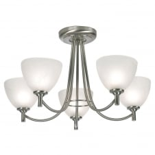 Hamburg Antique Chrome 5 Light Ceiling Pendant