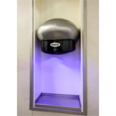 Helm 1350W High Speed Hand Dryer, Satin Silver