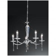 Hera Chrome 5 Light Ceiling Fitting