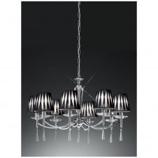 Hera Chrome 8 Light Ceiling Fitting