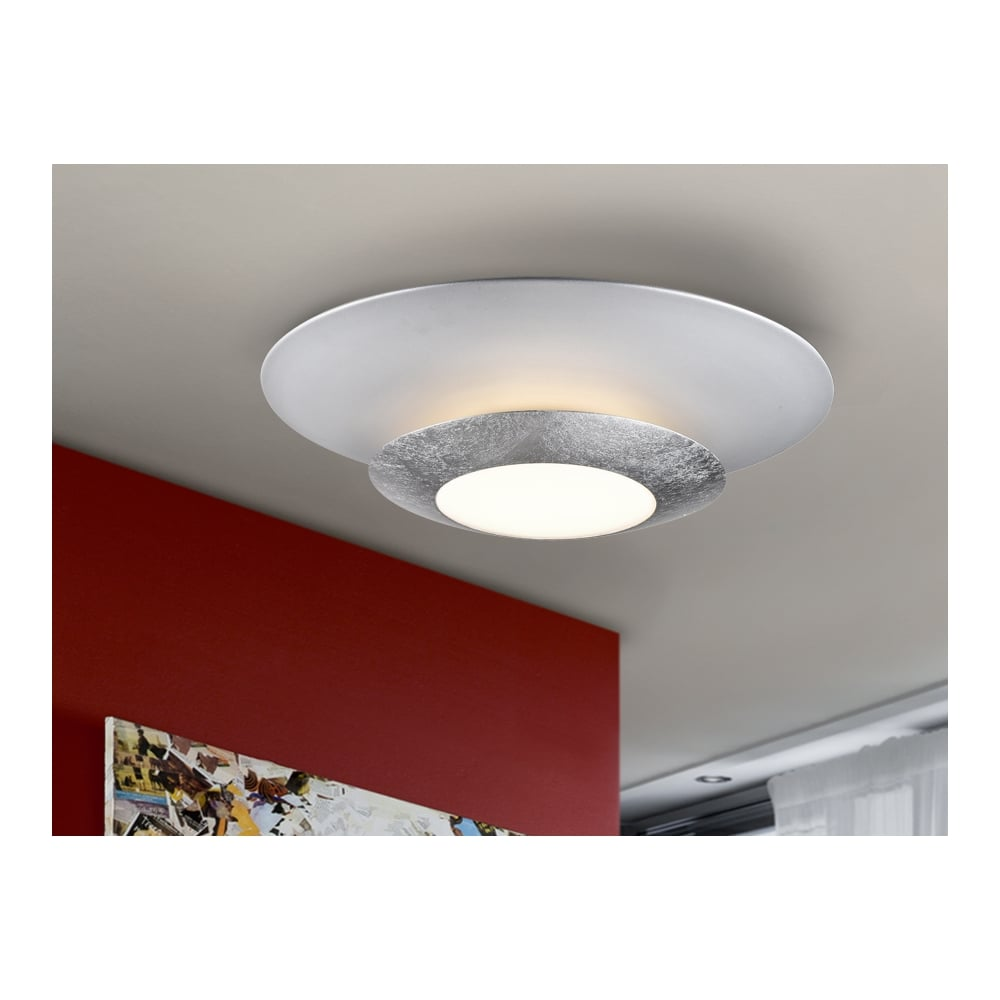 Hole LED Ceiling Lamp Silver
