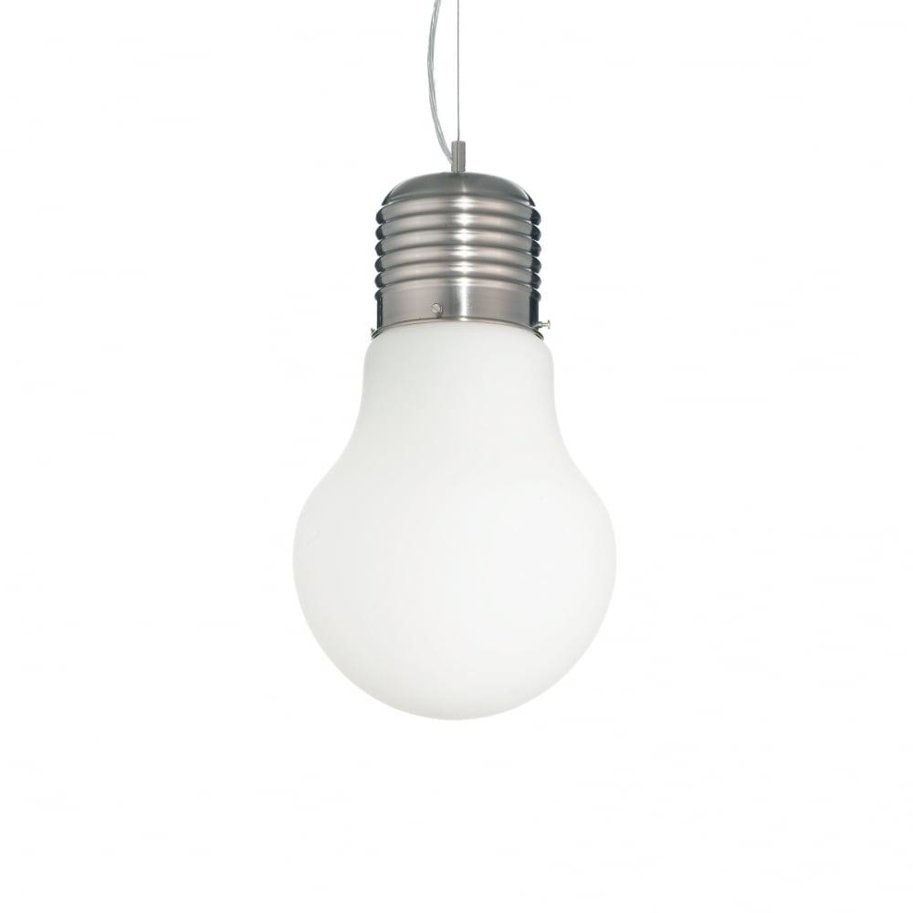 Modern chandelier at light bulb Big white light