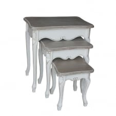 Tuscany Antique White Set of 3 Nesting Tables