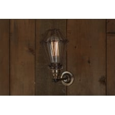 Industrial Cage Wall Sconce with Miners Light Cage
