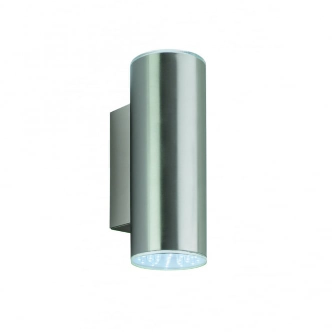 Firstlight Industrial Stainless Outdoor LED Cylinder Wall Light