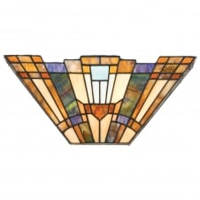 Inglenook Stained Glass Tiffany Wall Uplight Sconce, 2 Light