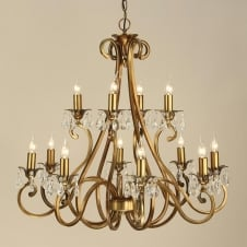 Oksana Brass 12 Light Chandelier