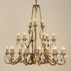 Oksana Brass 21 Light Chandelier