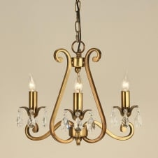 Oksana Brass 3 Light Chandelier