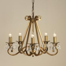 Oksana Brass 5 Light Chandelier