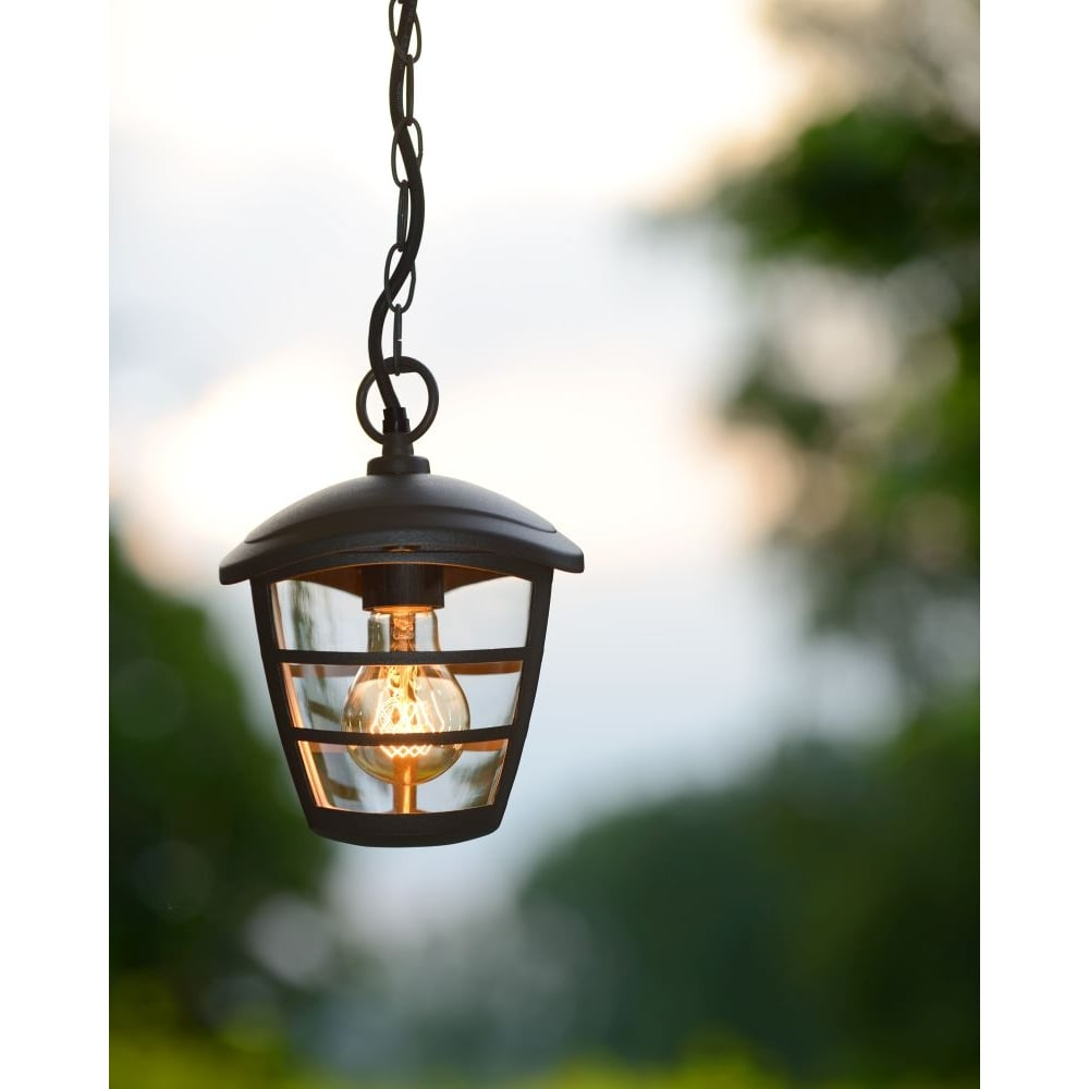 Porch Light Pendant: Lucide 29804/01/30 ISTRO Black Porch Ceiling Pendant Light