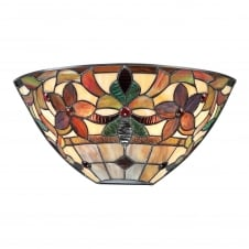 Kami Stained Glass Tiffany Wall Uplight Sconce