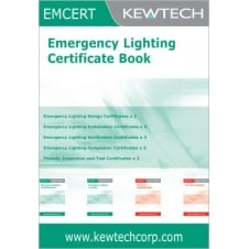 Emergency Lighting Certificate Book