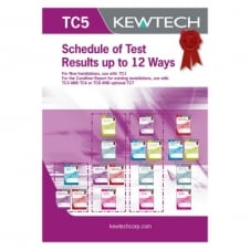 Schedule of Test Results (12 Ways)
