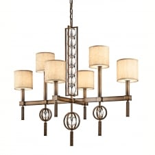 Celestial 6lt Rectangular Chandelier