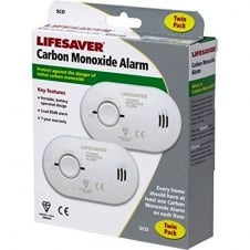 Kidde 5CO Twin Pack Lifesaver Battery Powered Carbon Monoxide Detector