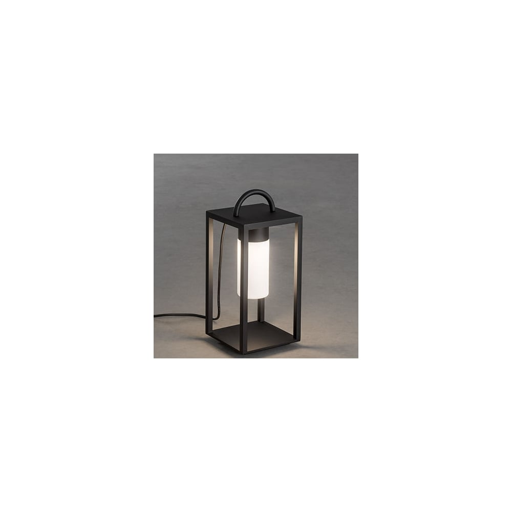 Traditional floor lamp - Bologna Traditional Black Led Lantern Outside Floor Lamp