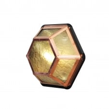 Castor Copper & Amber Ceiling or Wall Light