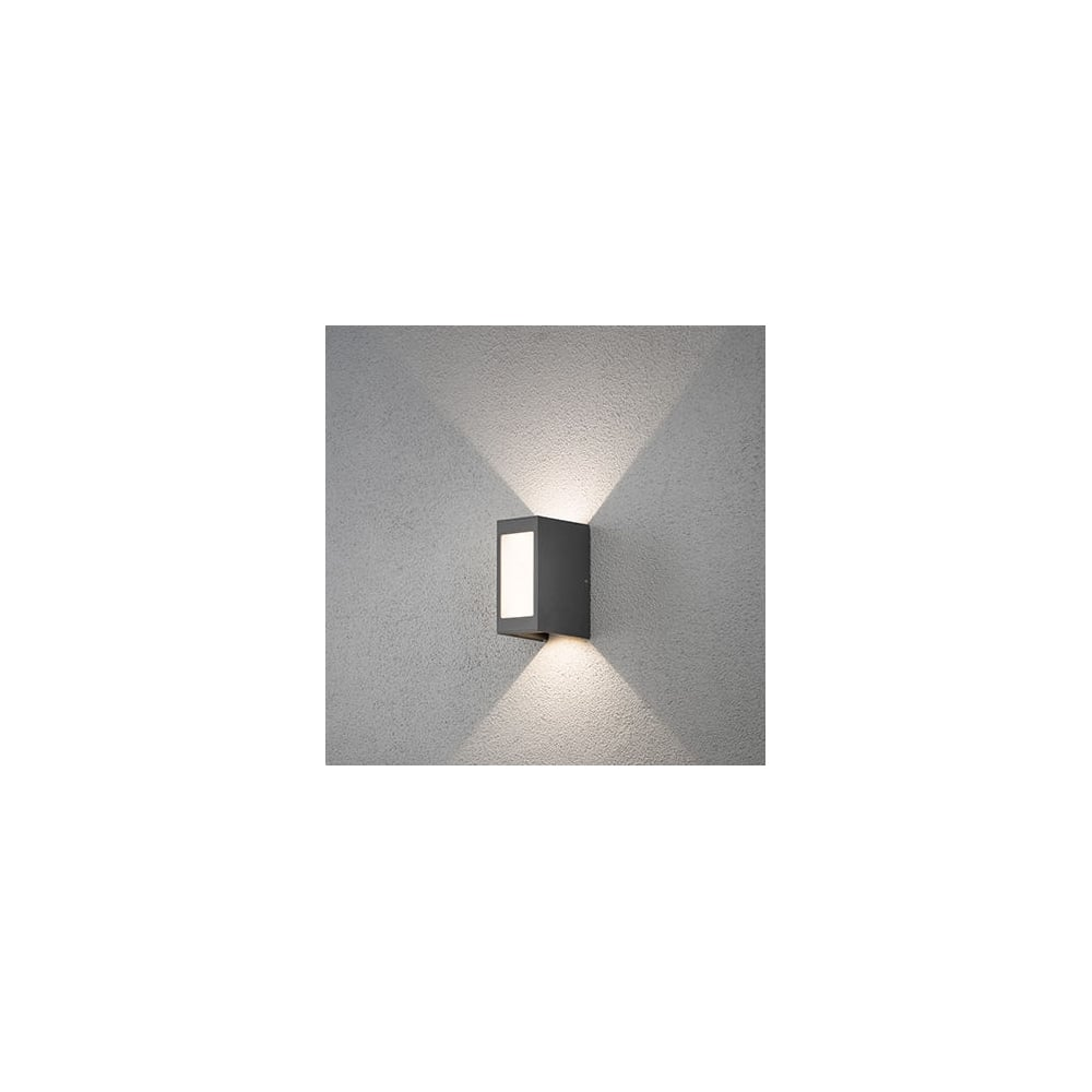 Konstsmide Cremona Grey Led Modern Outdoor Wall Light