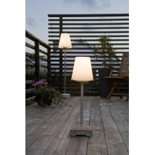 Lucca Patio Table Lamp with Opal Shade