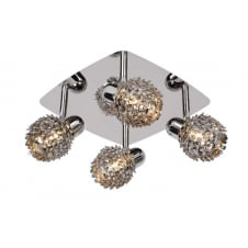 Kyra Chrome 4 Ball Ceiling Light