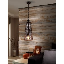 Laza Mesh Glass Ceiling Pendant