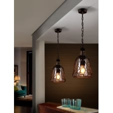 Laza Roped Mesh Ceiling Pendant
