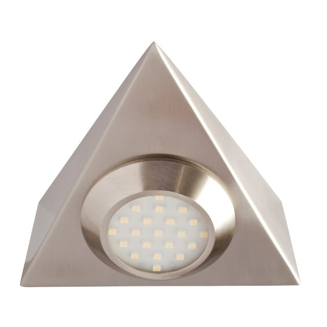 LED Robus Prism 2W LED Mains Triangular Cabinet Light - Brushed Chrome