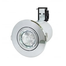 Robin 50W 240V GU10 Directional Fire Rated Downlight, 106mm, Chrome