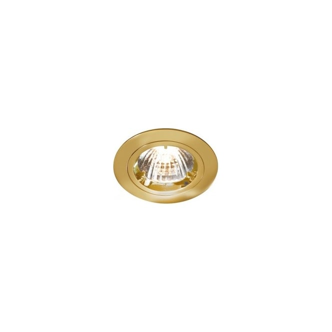 LED Robus Robin 50W 240V GU10 Fire Rated Downlight, 91mm, Brass