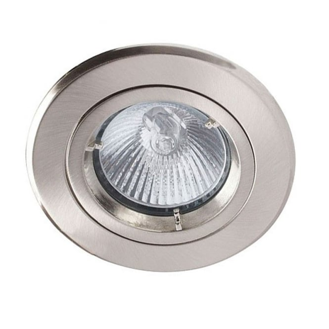 LED Robus Robin 50W 240V GU10 Fire Rated Downlight, 91mm, Brushed Chrome