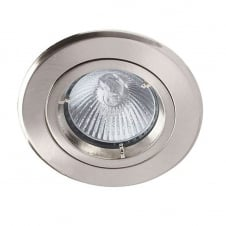 Robin 50W 240V GU10 Fire Rated Downlight, 91mm, Brushed Chrome
